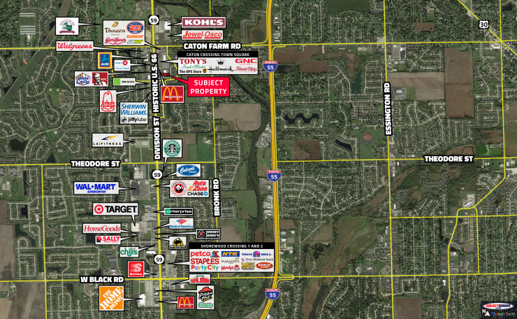 35,500 Square Foot Retail Parcel, Caton Crossing Town Square Center<br/>Plainfield, IL